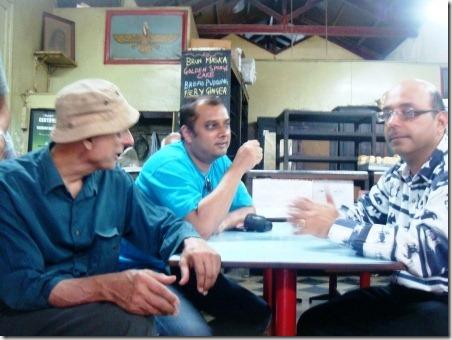 with Tirandaz & Rashid Irani at Yazdani