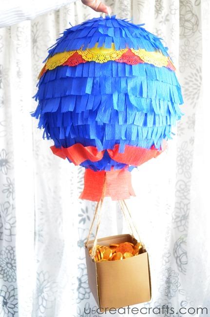 Hot Air Balloon Pinata Tutorial by UCreate