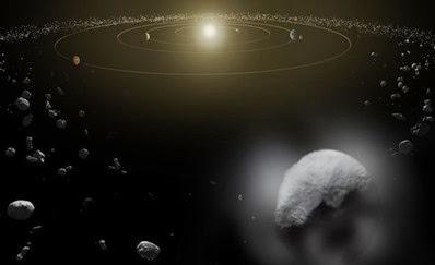 ilustração do planeta anão Ceres
