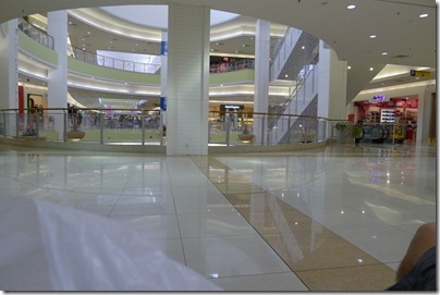 pretty empty mall at noon