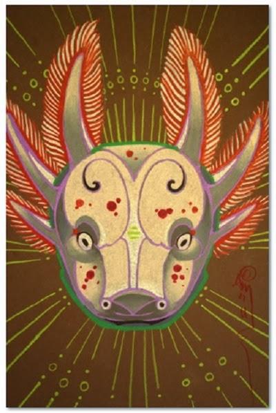 Axolotl Totem Anji Marth Pencil