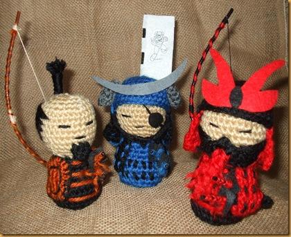 kokeshi samurai amigurumi