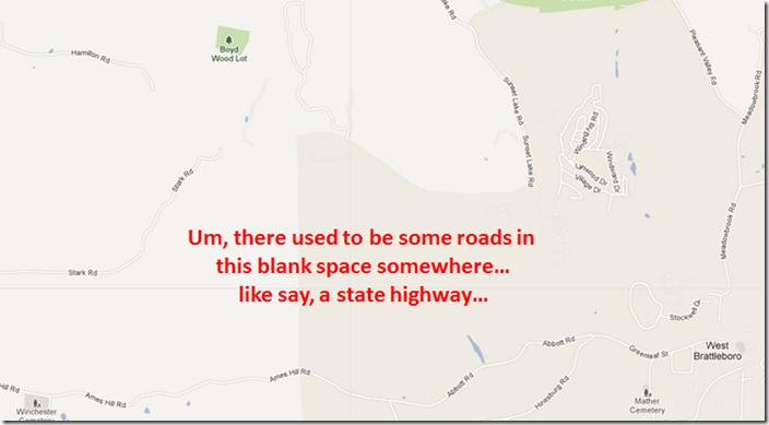roads missing