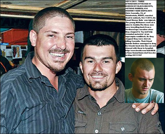 CONRADIE CHRIS MURDERED N14 DIEPSLOOT AMBUSH NOV 4 2011