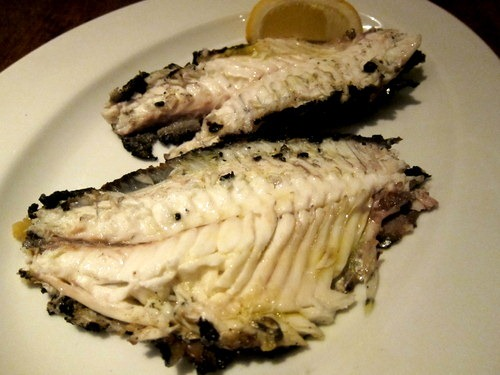 'Fossil fish' - sea bream grilled in salt