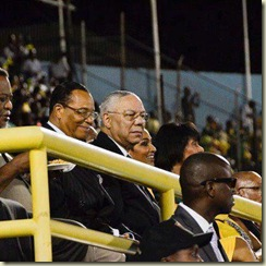 Colin Powell with Farrakhan