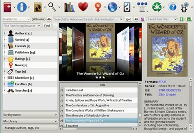 Free Calibre eBook Library Software