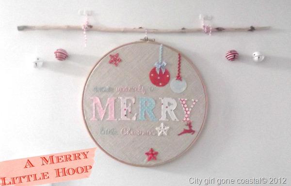 DIY Christmas hoop