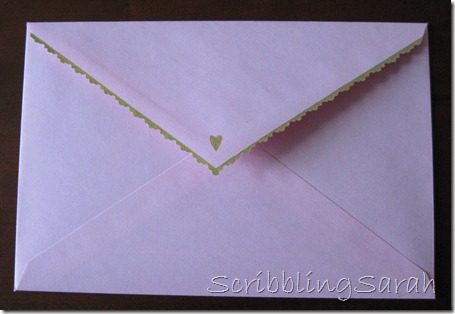 customized scalloped envelope