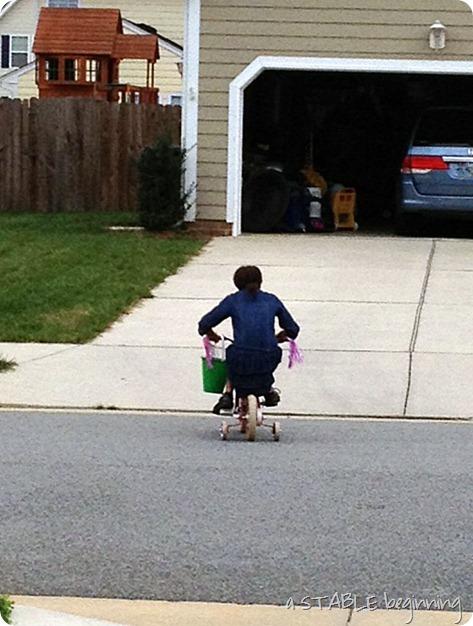 madison on bike