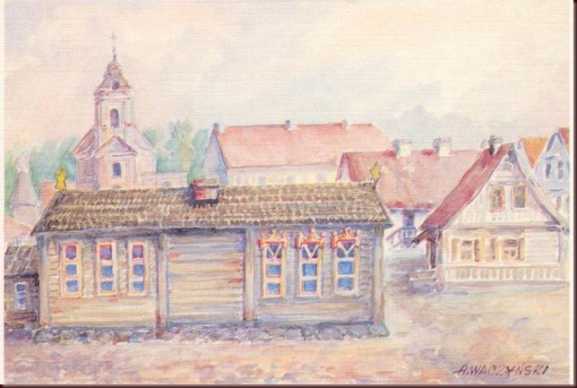 Albin_Waczyński_La_sinagoga_en_la_calle_Szkolna