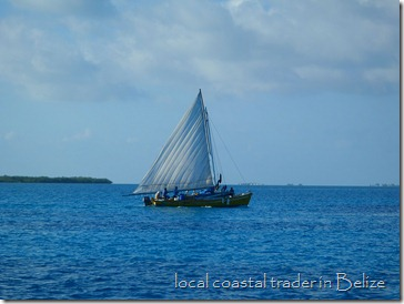 Local trading boat, Belize