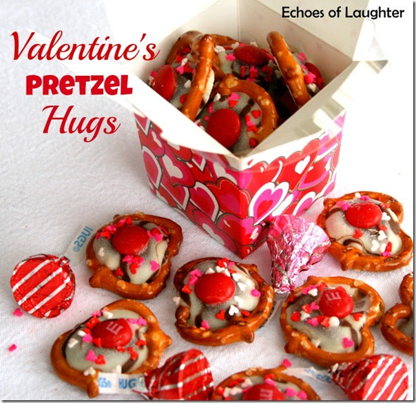 Valentine's Pretzel Hugs