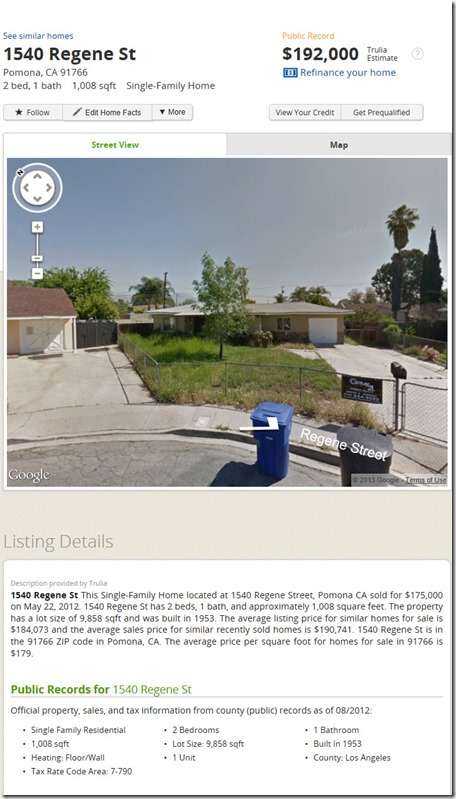 Debs Webster Family Home in Pomona California
