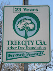 Tree City USA. This sign is located on Foothill Boulevard, just east of Lowell Avenue.