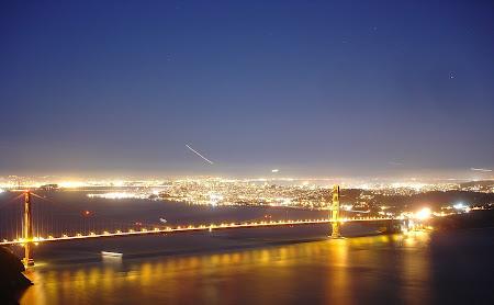 Imagini San Francisco: Golden Gate noaptea