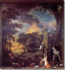 Landscape_with_Huntsman_and_Dead_Game_1697_Jan_Weenix