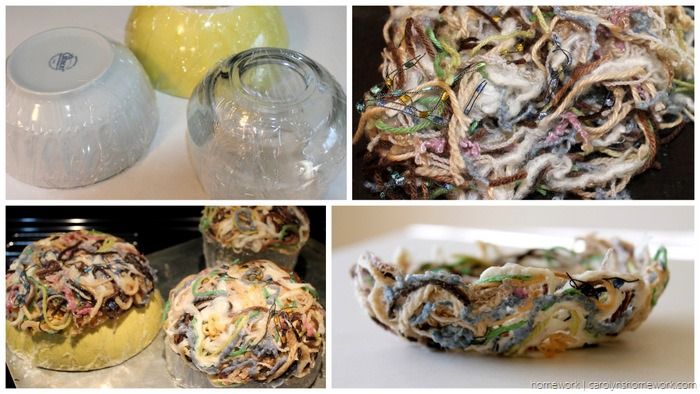 Yarn Scrap Paper Mache Nest via homework - carolynshomework (3)