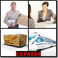 EXPRESS- 4 Pics 1 Word Answers 3 Letters