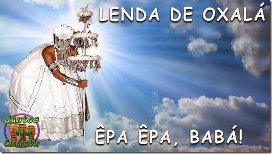 A lenda de Oxalá é o senhor do branco