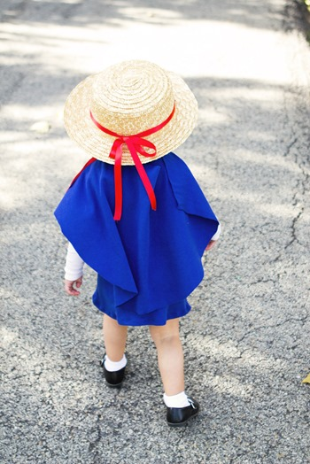 DIY Madeline Costume, How to make a madeline costume, DIY Madeline Cape, DIY Madeline Hat