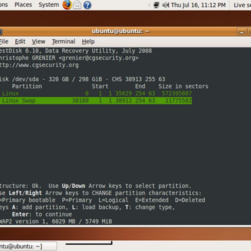 Come recuperare partizioni e dati persi con TestDisk.