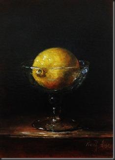 Lemon in glass 4