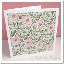 Clematis set of 4 small square note cards 2