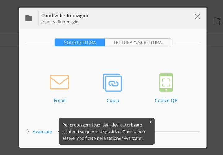 BitTorrent Sync - Condivisione