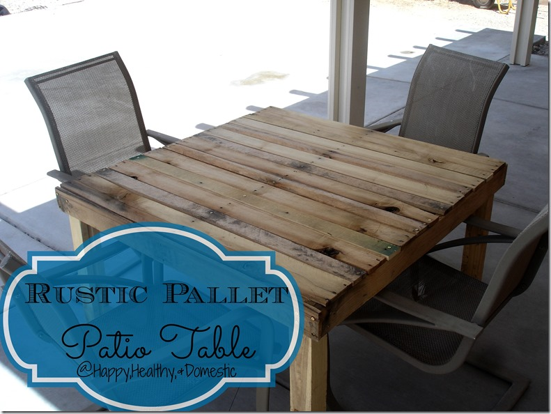 Someday Crafts: Rustic Pallet Patio Table