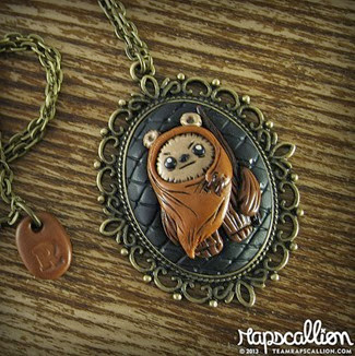 Ewok Inspired Cameo Necklace from Rapscallion Design