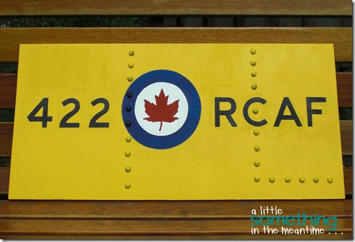 RCAF Sign Finished On Bench WM