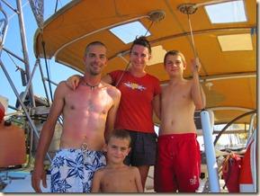 Ghislain, Annie, Guillaume, Olivier sur Myriam