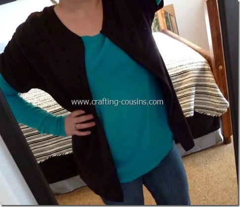 ruched sleeve cardigan (24.5)