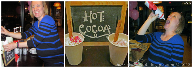 hot cocoa (hot chocolate) bar for winter baby shower