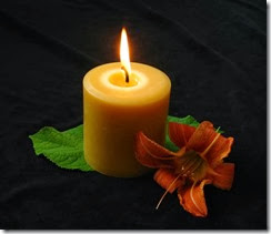pillar-burning-honey-candles