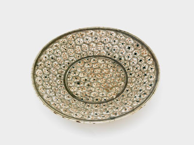 Plate | Origin:  Iran | Period: 17th century  Safavid period | Details:  Not Available | Type: Stone-paste painted under glaze | Size: W: 8.1  cm | Museum Code: S1997.60 | Photograph and description taken from Freer and the Sackler (Smithsonian) Museums.