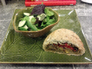 Veggie Stuffed Flax Bread