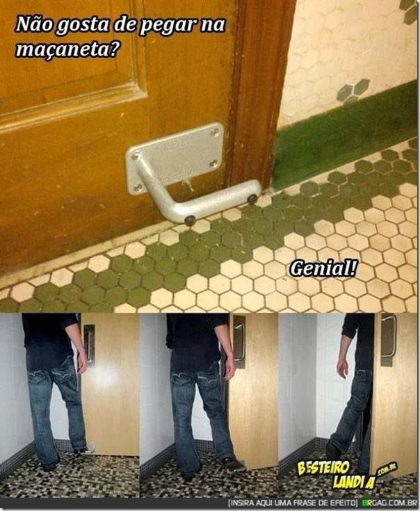 Idéia fantástica para banheiros públicos