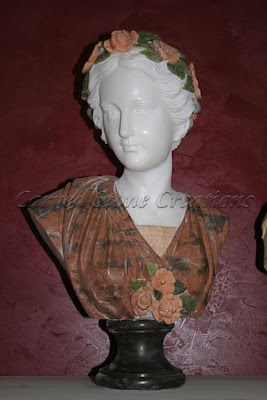 Woman Bust with Flower Wreath In Hair