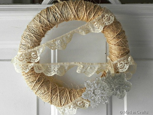 rustic wreath closeup
