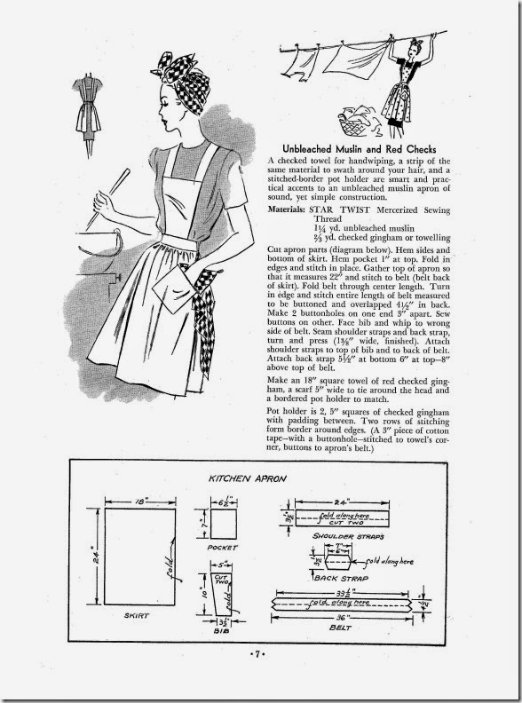 Sewing with Rascal: Free Vintage Apron pattern