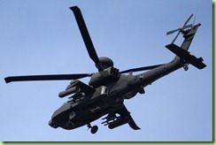 black apache helicopters