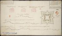 17 September 1740 PLAN en project met de profylen van de Ommer Schans, zo als dezelve weder opgemaakt en versterkt zoude moeten worden ### Bron: OudOmmen - ontvangen van Streekmuseum Ommen