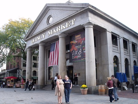 Quincy Market at Faneuil Hall.