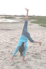 Corporation Beach sunset Lily cartwheels2...8.19