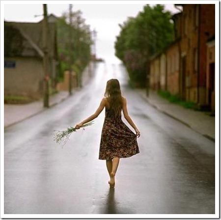 caminhar sozinha