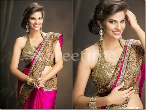Kritika_Sood_Halter_Neck_Saree_Blouse