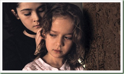 """ISABELLE FUHRMAN as Esther and ARYANA ENGINEER as Max in Dark Castle Entertainment's horror thriller """"Orphan,"""" a Warner Bros. Pictures release."""