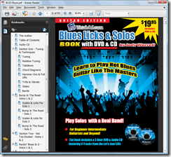Blues Licks and Solos DVD Book in PDF Viewer